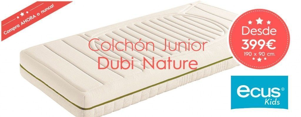Oferta Colchón Junior Dubi Nature Ecus kids