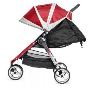 Baby Jogger City Mini 3 Rojo Reclinado