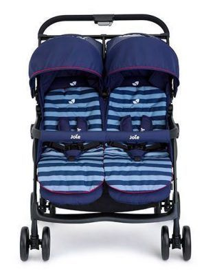 Silla Gemelar Joie Aire Twin Nautical Navy