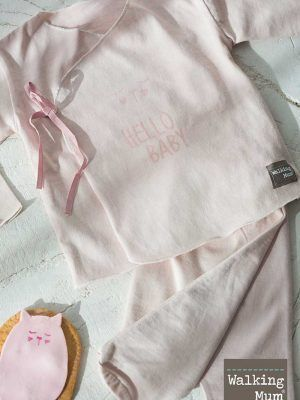 Camiseta y Polaina Hello Baby Walking Mum Rosa