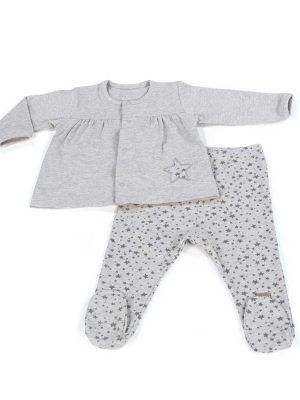 Walking Mum Jersey y Polaina Niña Stars Be Gris