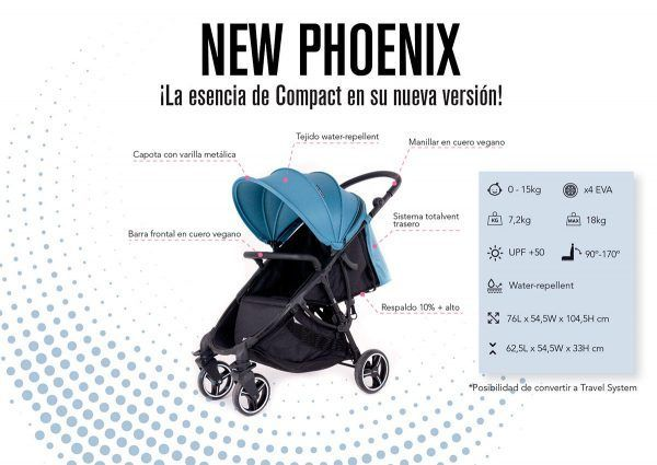 Silla de Paseo Phoenix Baby Monsters