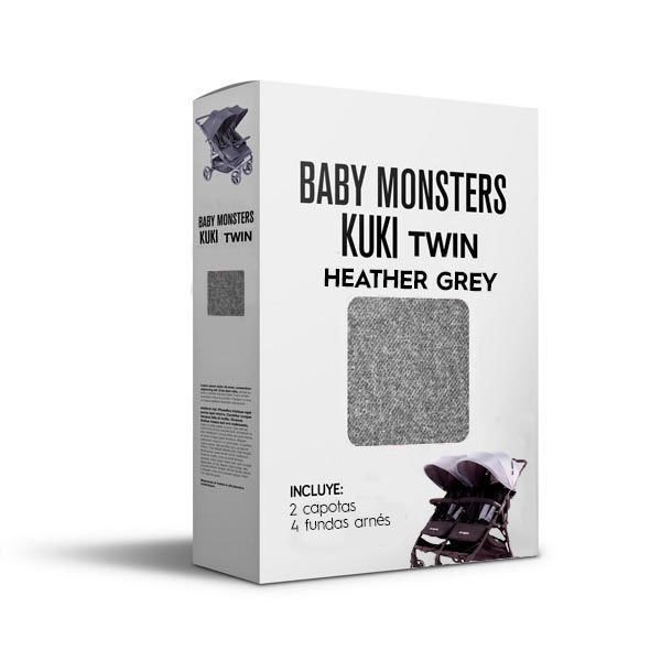 Baby Monsters Set Color para Kuki Twin Heather Grey