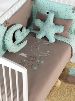 Bimbidreams Funda Nórdica con Protector Cuna Sweet Nights Menta