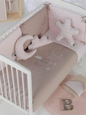 Bimbidreams Funda Nórdica con Protector Cuna Sweet Nights Rosa