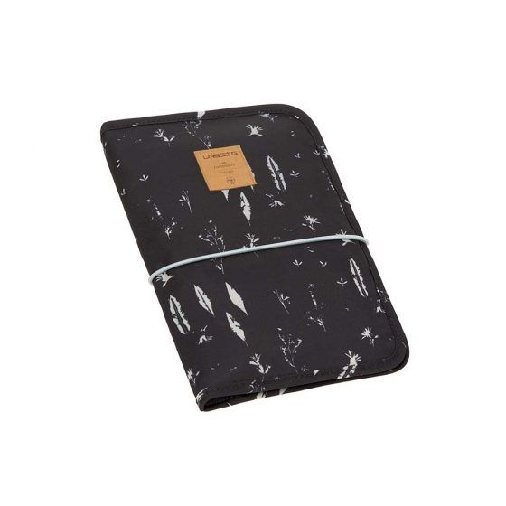 Cambiador Casual Changing Pouch Feathers Black Lassig