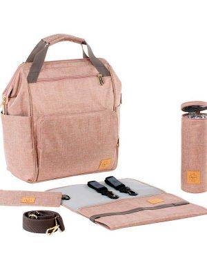 Mochila Cambiador Glam Goldie Backpack Rose Lassig