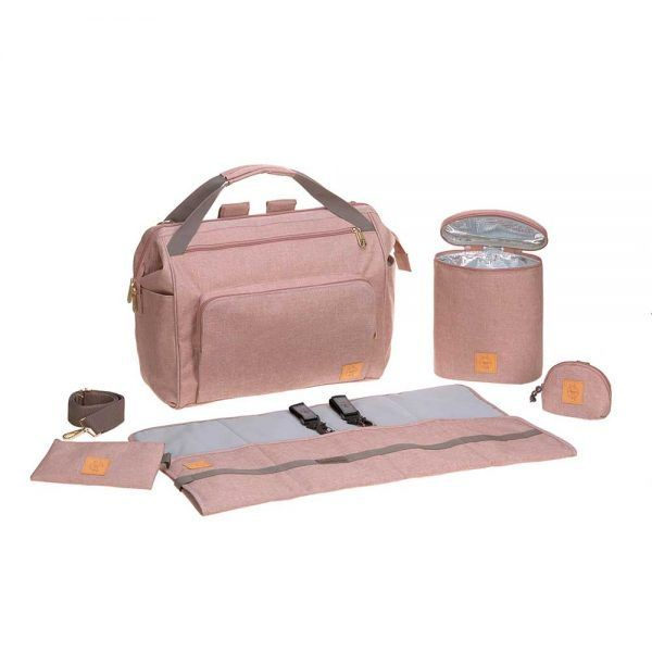 Mochila Cambiador Glam Goldie Twin Backpack Rose Lassig