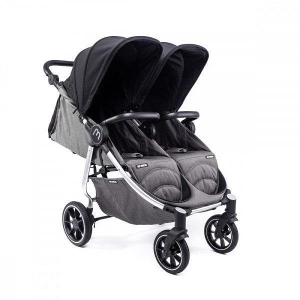 Silla Gemelar Easy Twin 4 Baby Monsters Chasis Silver
