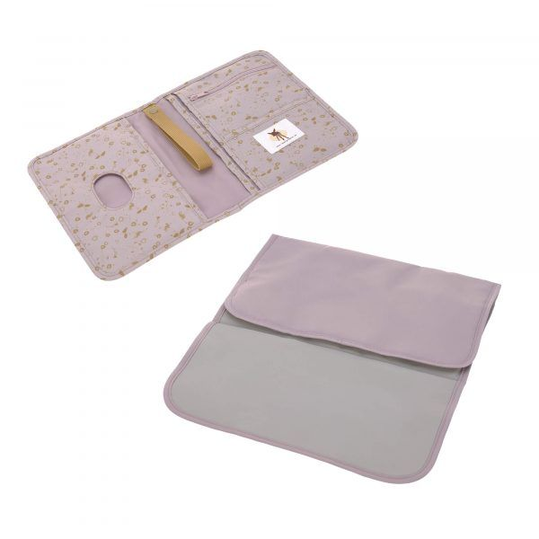 Cambiador Casual Changing Pouch Flowers Lilac Lassig