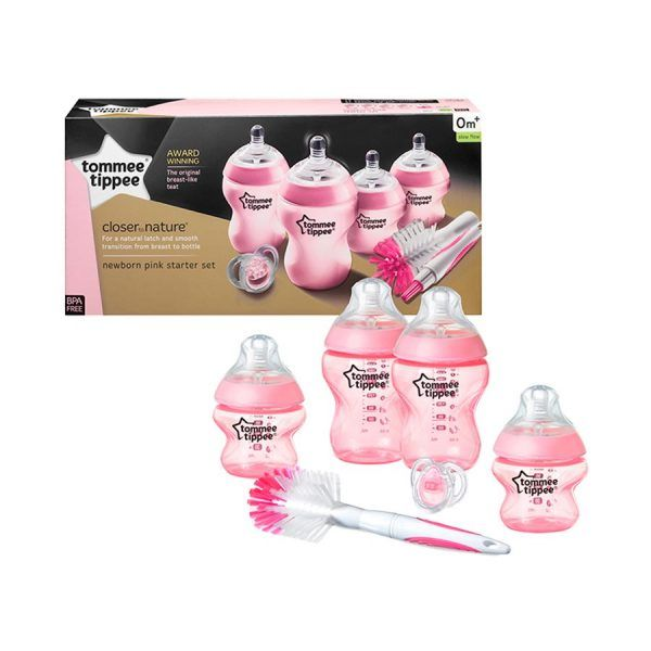 Kit Recién Nacidos Tommee Tippee Closer To Nature Rosa
