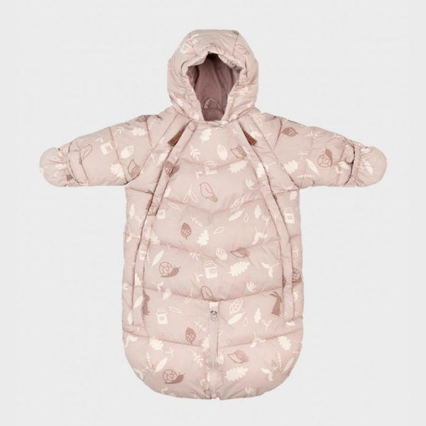 Overol Bebé Leokid Transformable Dusty Pink Forest