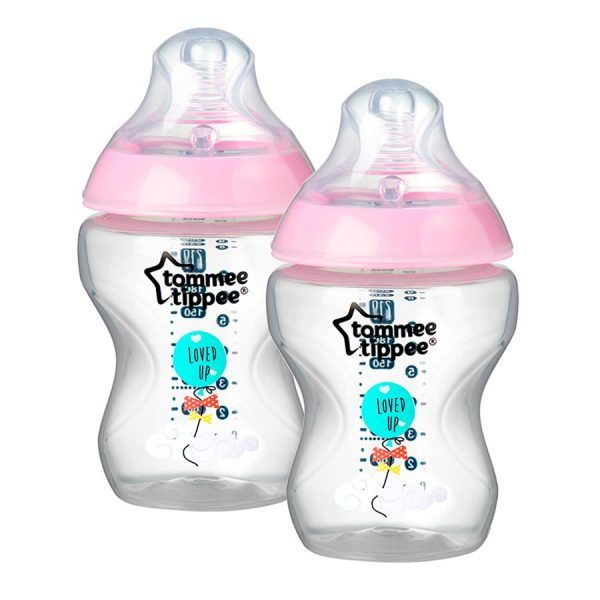 Pack 2 Biberones Tommee Tippee Closer to Nature 260 ml Rosa
